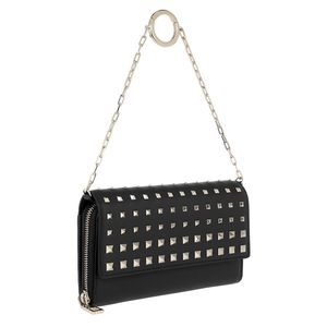 Valentino Garavani Rockstud Leather Wallet Black